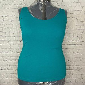 Old Navy Teal Cotton Ribbed Tank